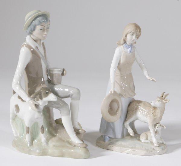 21: 2 Porcelain Figurines