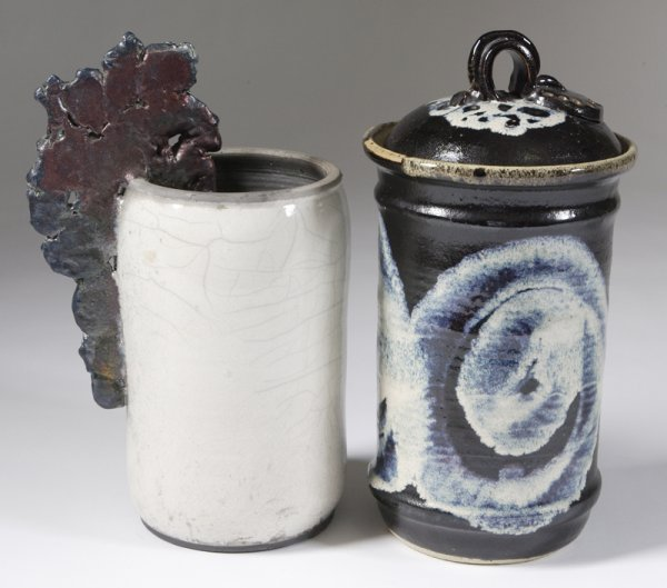 23: 2 Late 20th C. American Art Pottery Vases