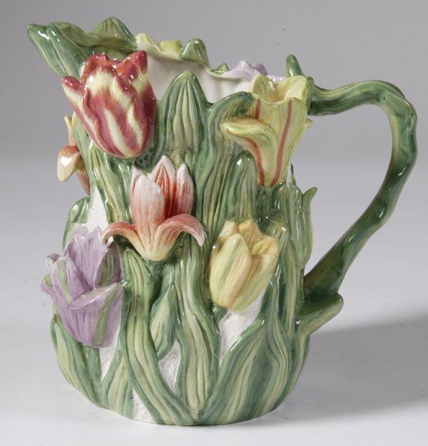 460: Kaldun & Bogle Floral Pitcher