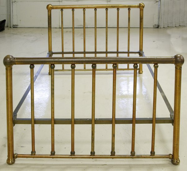 462: Antique Brass Bed by Foster