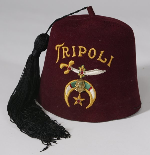 463: Tripoli Embroidered Masonic Shriner's Hat