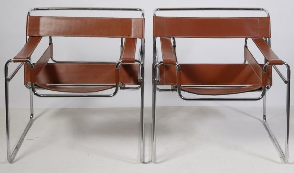 469: Pair of Low Slung Retro Chairs