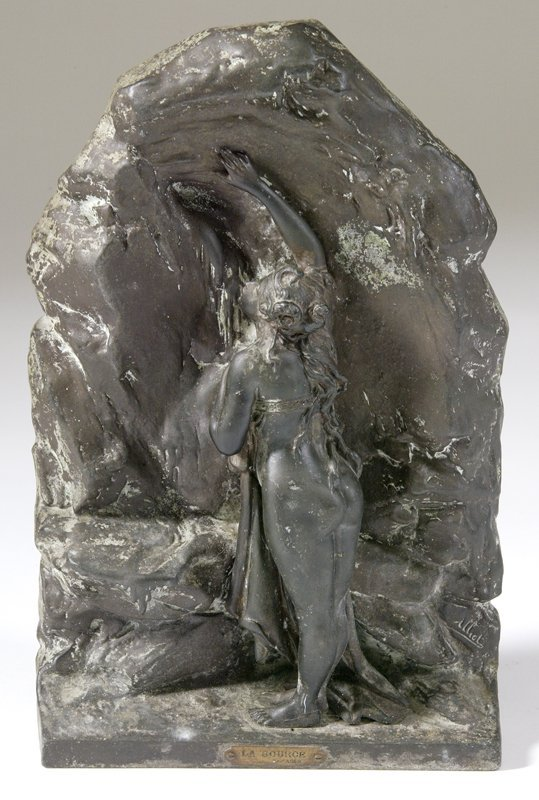 "476: Lucien Charles Alliot ""La Source"" Bronze"