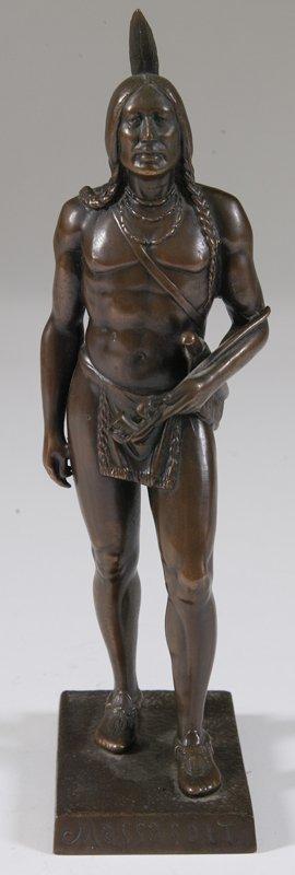 477: Bronze Indian Figure, Massasoit, Signed: Dallin ©