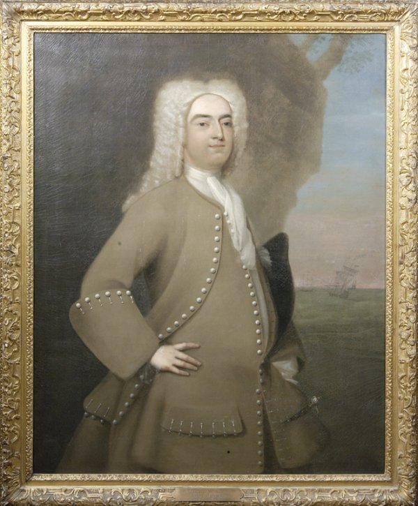 "514: 18th C., Joseph Blackburn, ""Capt Nathaniel Cunning"