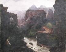 801: Western Canyon River Landscape, O/C