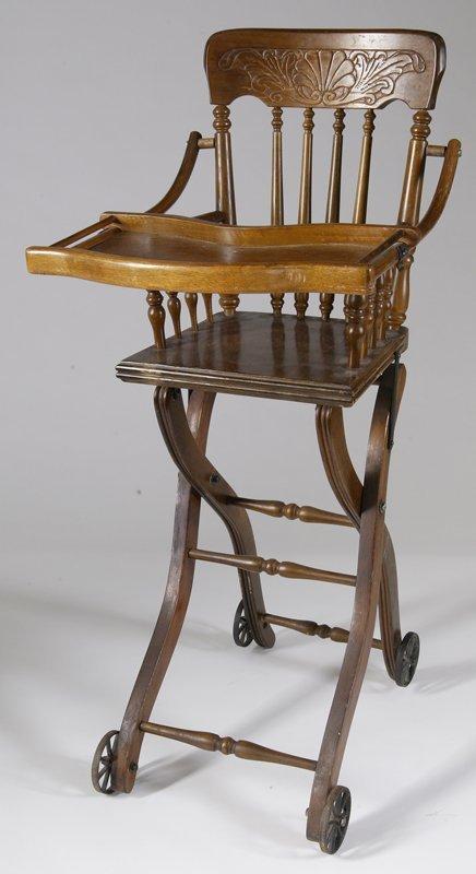 1: Antique Converting High Chair/Stroller