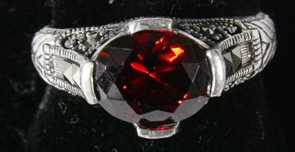 5: Fancy Garnet and Sterling Ring
