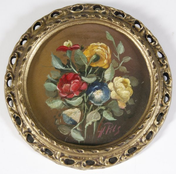 7: H. Pils, Oil on Canvas; Flowers