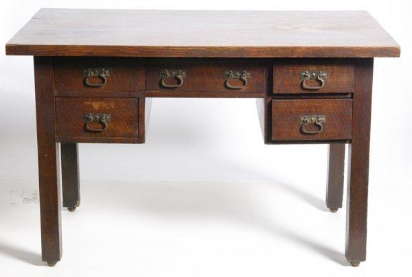 18: Exceptional Limberts White Oak Mission Desk