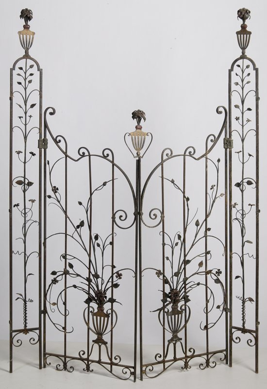 24: Exceptional 19th C. Ornate Iron Gate