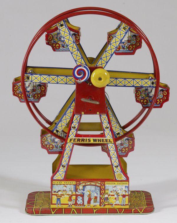 "144: Vintage J. Chein & Co. Tin ""Hercules"" Ferris Wheel"