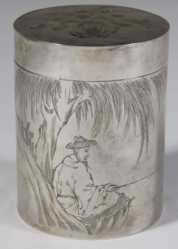 168: Early 20th C. Japanese Silver Tobacco Jar