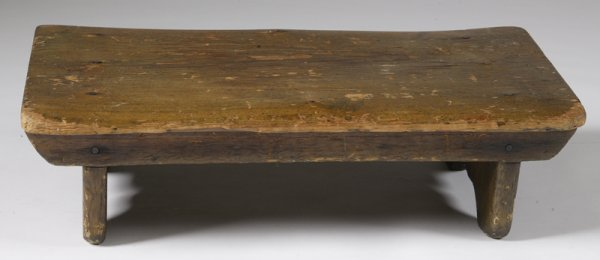 1: Circa 1840's Handmade Foot Stool