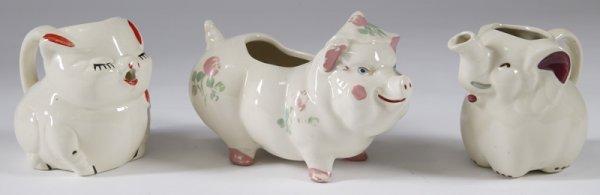 4: Three Pieces U.S.A  Pottery; Pitchers & Planter