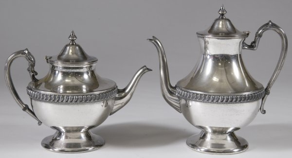 13: Silver Plated Tea Pot and Coffee Pot