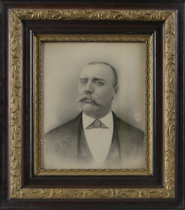 14: Antique Charcoal on Paper; Portrait of Mr. George