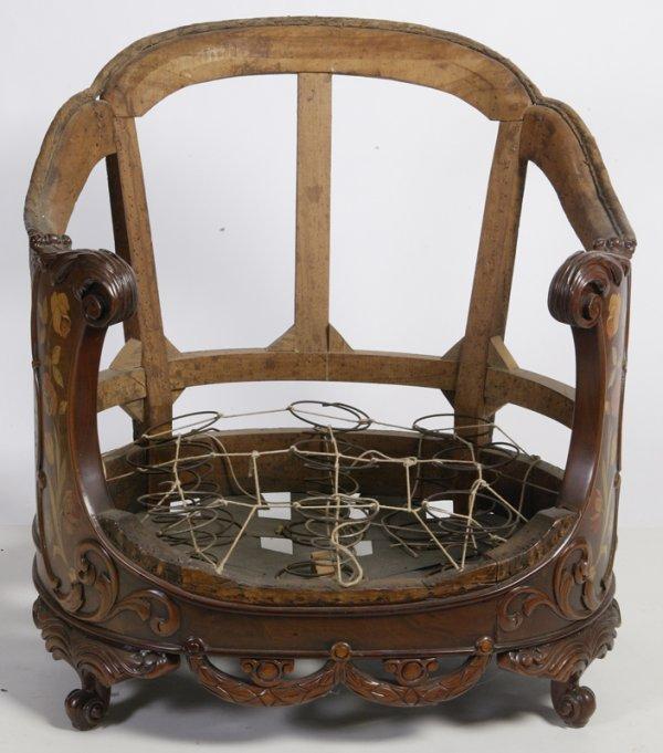 21: Exceptional 19th C. Dutch Marquetry Armchair