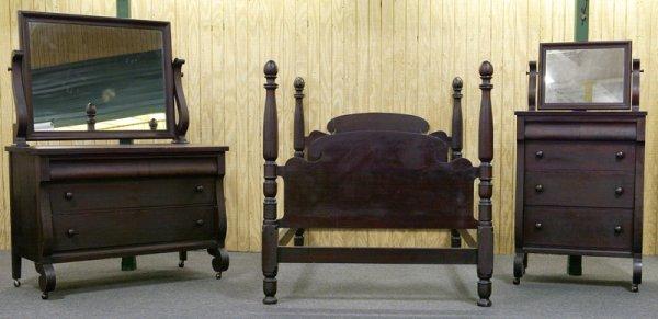 23: Circa 1830 Empire Mahogany Bedroom Suite