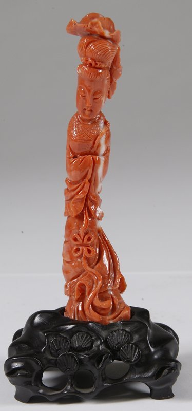 509: Chinese Carved Coral Figure