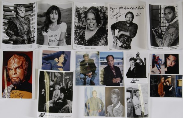 11: Grouping of Television Star Autographed Photos