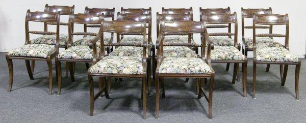 626: Fine Set of Fourteen Regency Dining Chairs