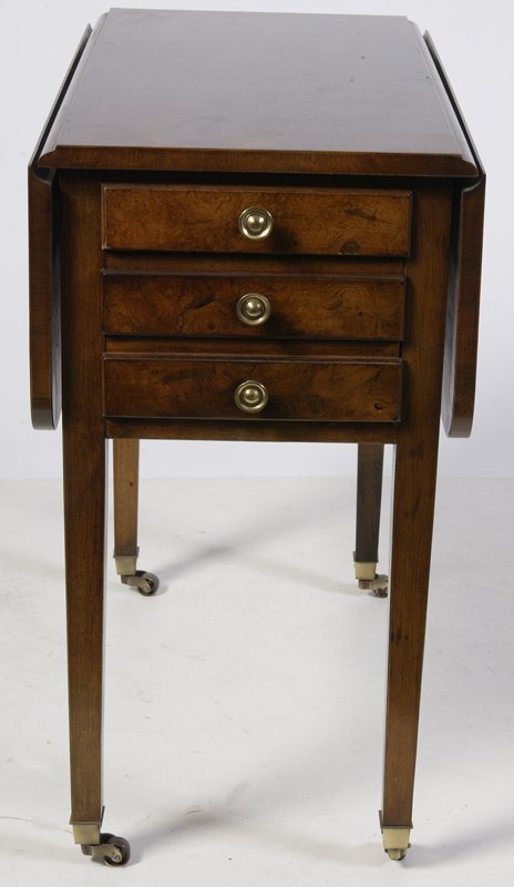627: Drop Leaf Side Table with Three Drawers