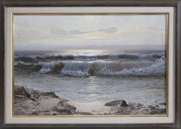 873: Ottorino Campagnari, Oil Painting on Canvas