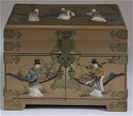 994 Early 20th C Chinese Hardstone  Lacquer Chest
