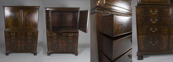 503: Fine Henry Ford Estate Mahogany Linen Press
