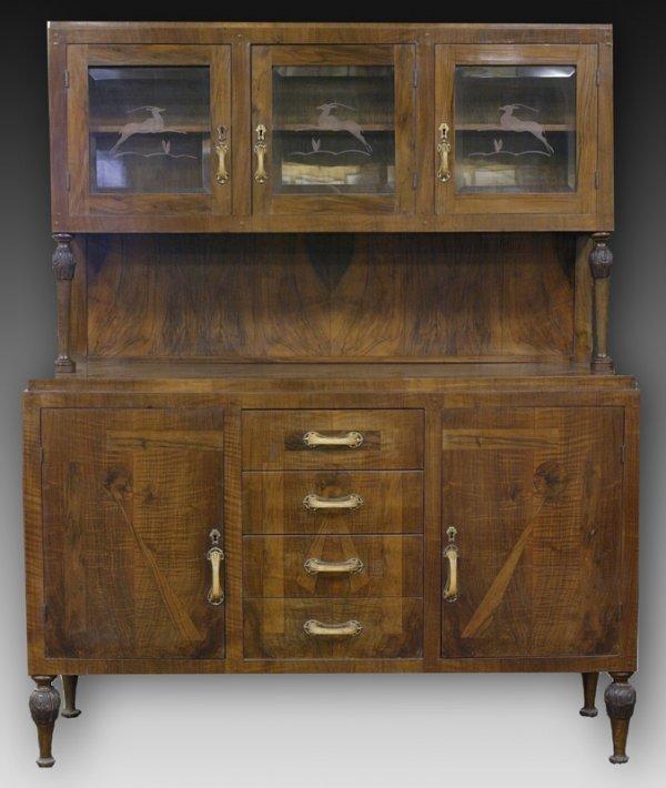 504: Italian Art Deco Hutch Cabinet