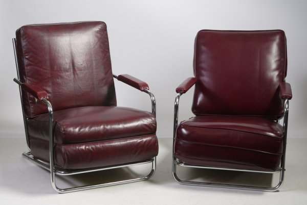 508: Gilbert Rohde for Troy Sunshade Chrome Chairs
