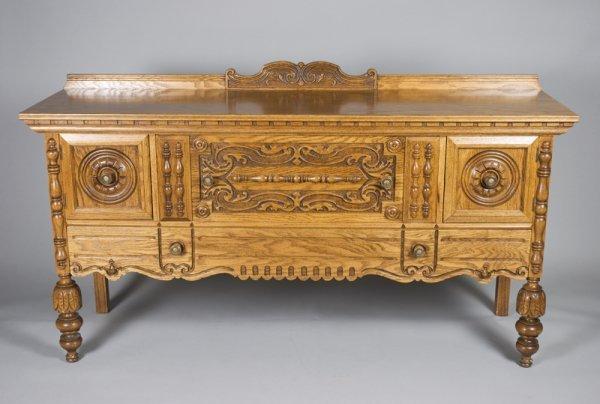 513: Oak Jacobean Style Sideboard