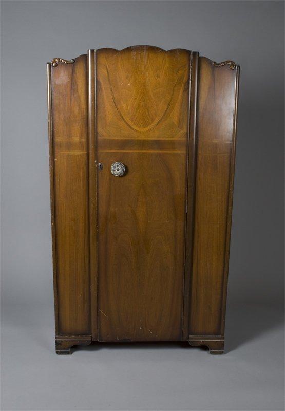 515: Circa 1960's Art Deco Wardrobe
