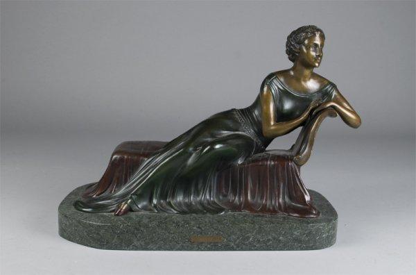 522: Spectacular Art Deco Bronze, Signed Gilbert