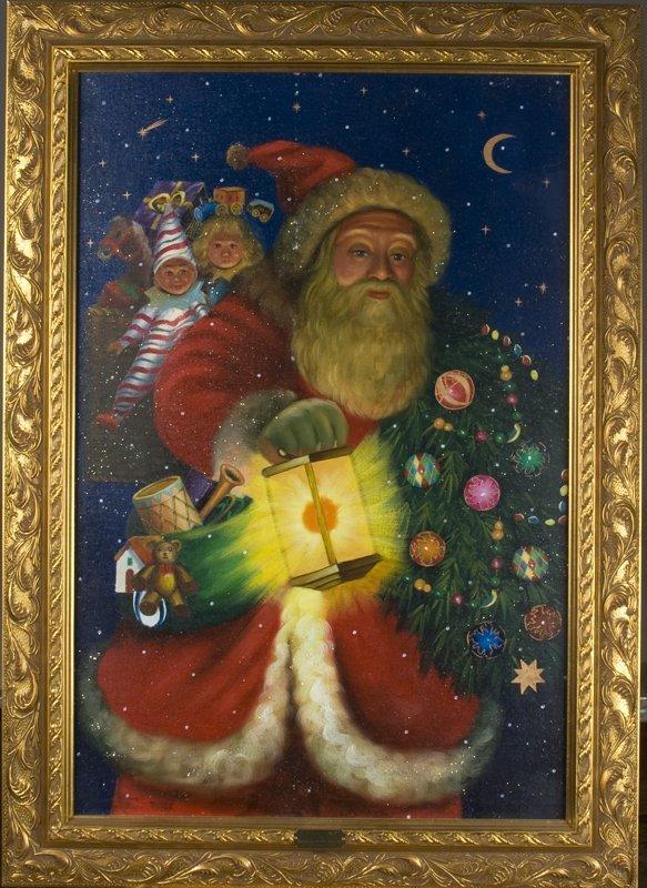 1044: Christopher Radko Oil Painting on Canvas