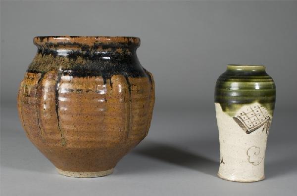 4: 2 Art Pottery Pieces