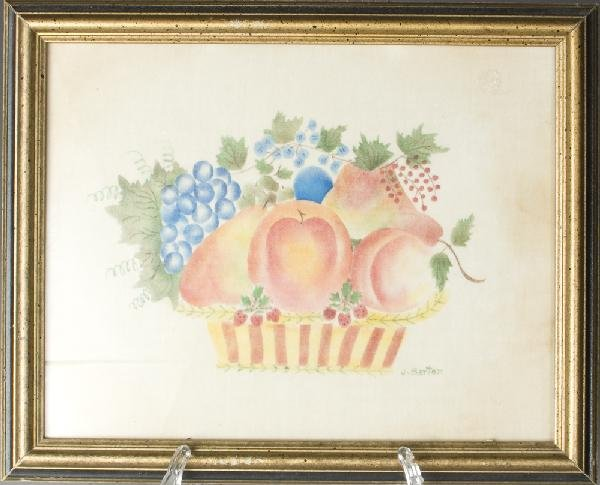 7: Jane Barton, Theorem Painting on Velvet