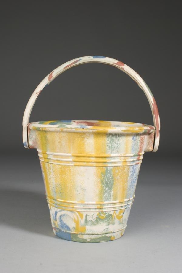8: Child's Vintage Multi-Color Rubber Pail
