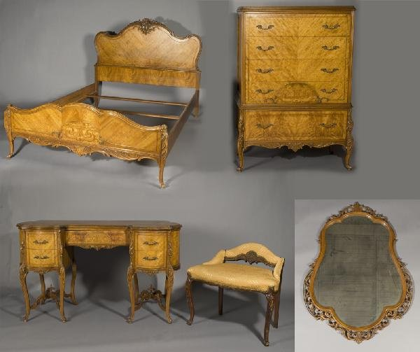 15: Five Piece French Provincial Bedroom Set