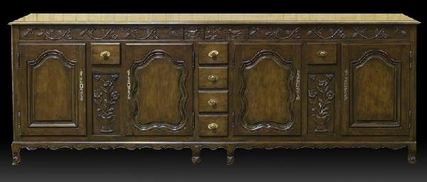 16: Carved French Sideboard, Early 20th