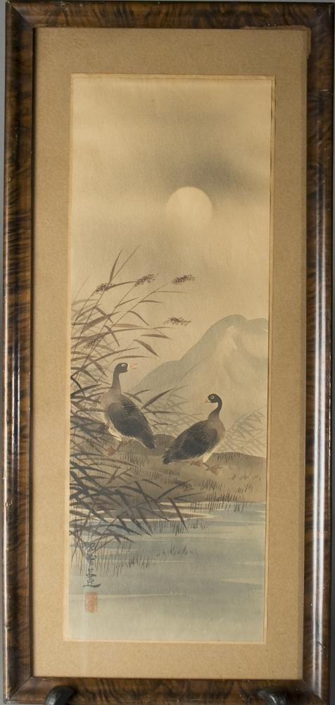 613: Japanese Woodblock Of Ducks Early 20th Century