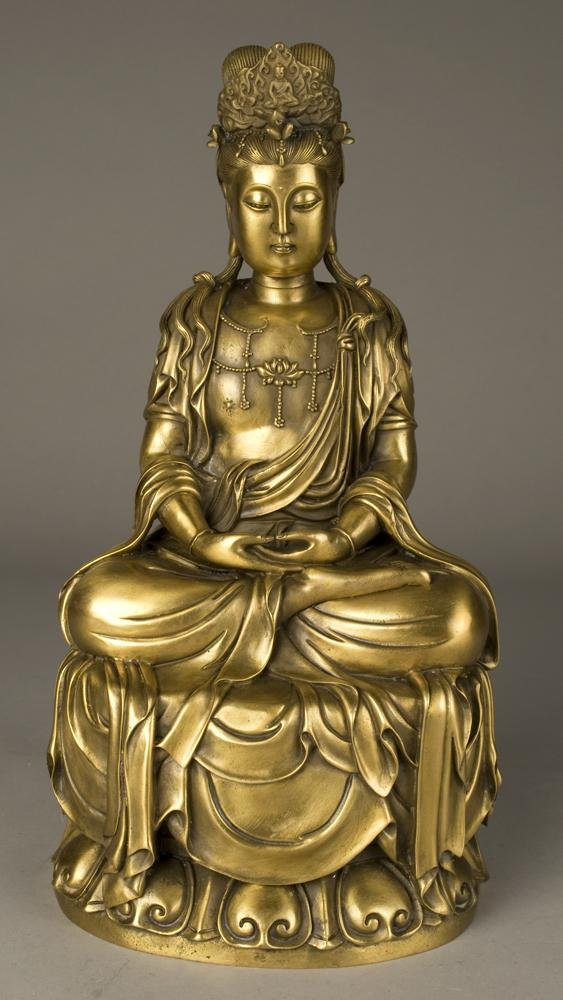 707: Exceptional Chinese Gilt Bronze Buddha
