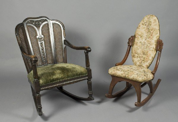 1: (2) Antique Rocking Chairs
