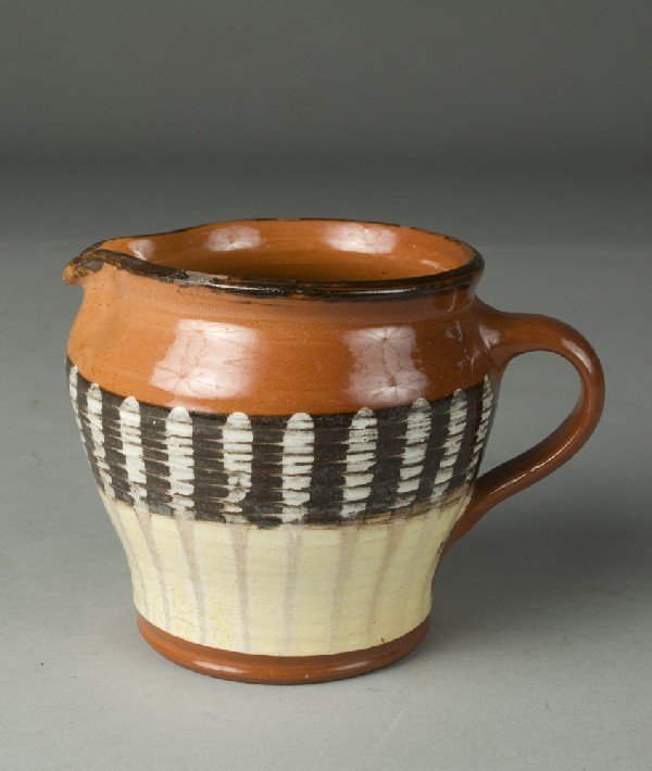 4: Handmade Redware Cream Jug