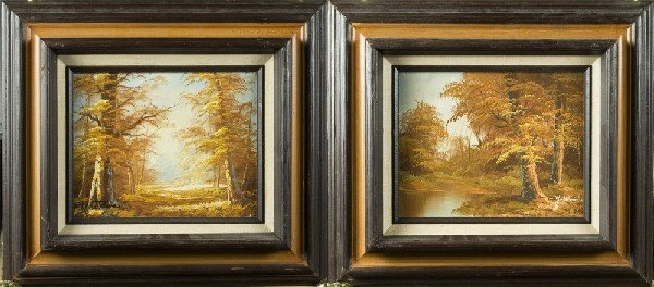 6: (2) 20th Century Oil Paintings on Canvas