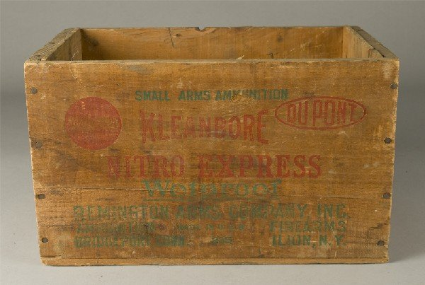 7: Vintage Remington Kleanbore Nitro Wooden Box