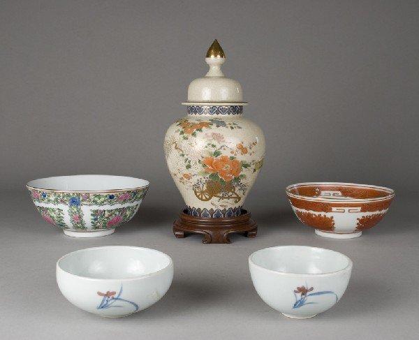 12: (5) Asian Porcelain Articles
