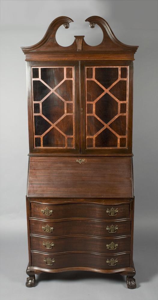 17: Fine Eastlake Style Mahogany Secretary Bookcase