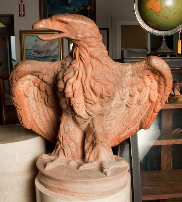 22: Exceptional Fornace Masini Terracotta Eagle